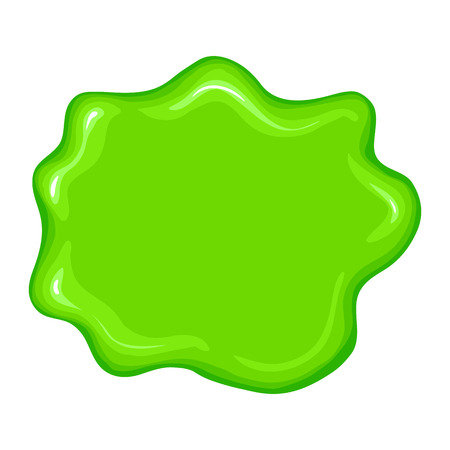slime: Best green slime sign isolated on a white background Illustration