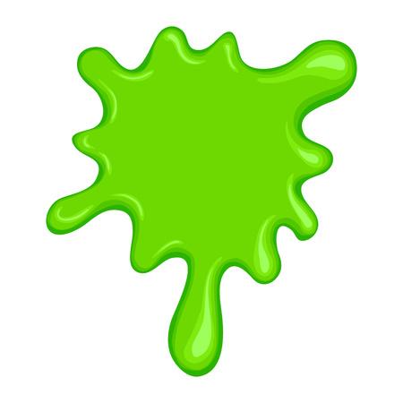 白い背景に分離された緑のスライム シンボル  イラスト・ベクター素材