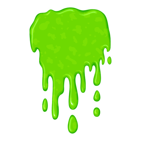 slime: New green slime symbol isolated on a white background