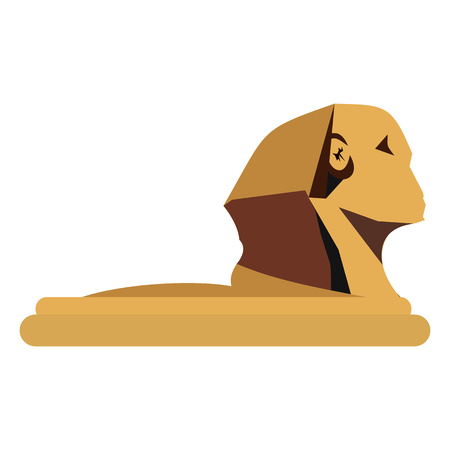 giza: The Great Sphinx of Giza in flat style