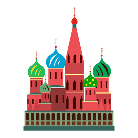 basil: Saint Basil cathedral in Moscow, Russia. Flat style