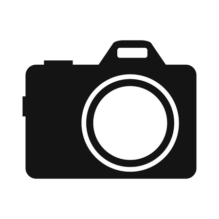 density: Camera simple icon isolated on white background
