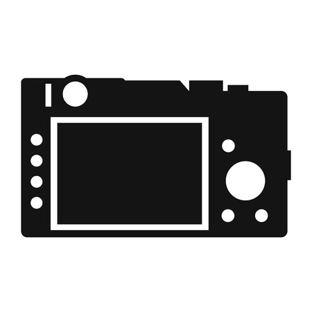 Back of the camera simple icon isolated on white background Illustration