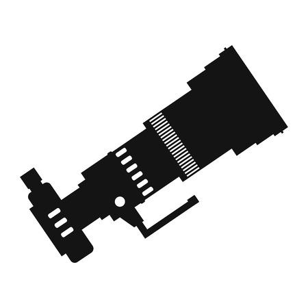 polarizing: Professional camera simple icon isolated on white background Illustration