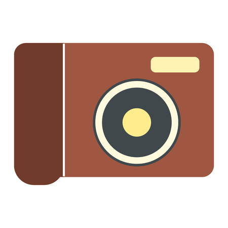 neutral density filter: New portable camera flat icon isolated on white background Illustration