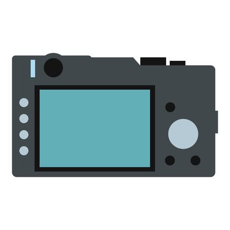 polarizing: Back of the camera flat icon isolated on white background Illustration