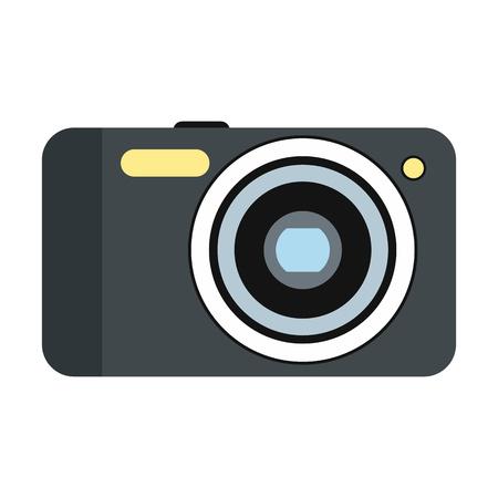 polarizing: New camera flat icon isolated on white background Illustration