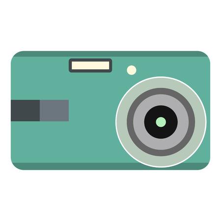 polarizing: Unique camera flat icon isolated on white background Illustration