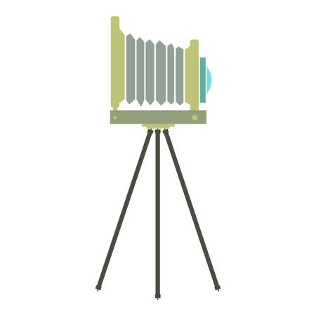 polarizing: New retro camera flat icon isolated on white background