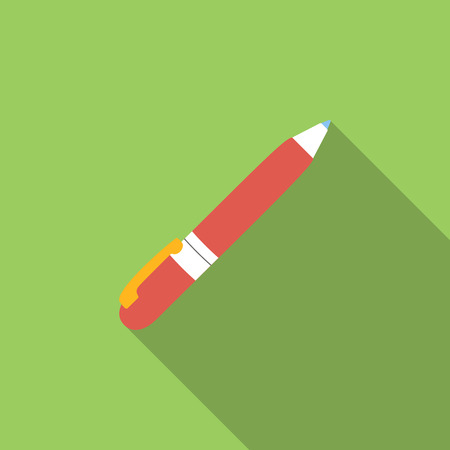 Pen flat icon for web and mobile devices