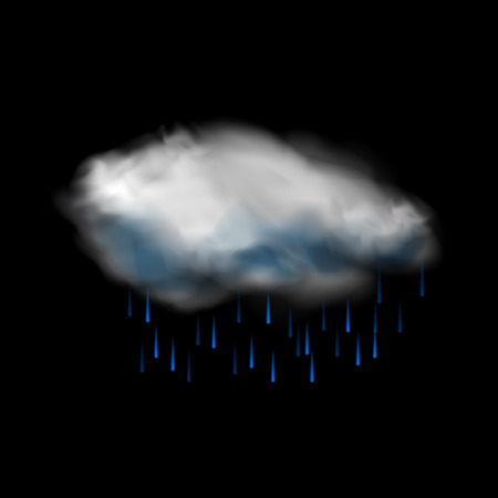 humidity: Cloud and rain icon for web and mobile devices