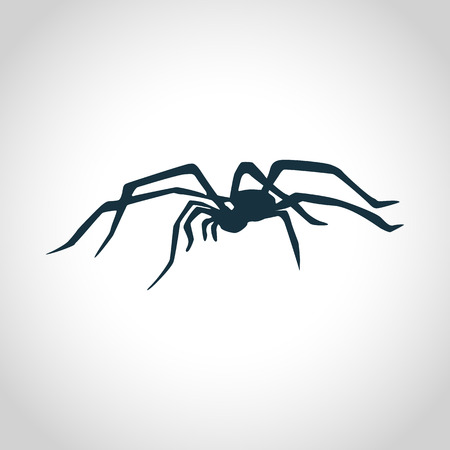 arachnophobia: Spider black silhouette for web and mobile devices