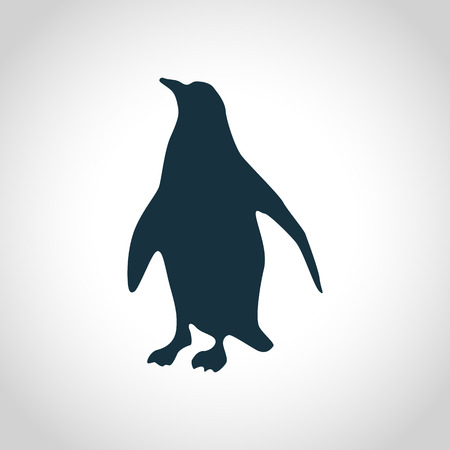 ice: Penguin black silhouette for web and mobile devices