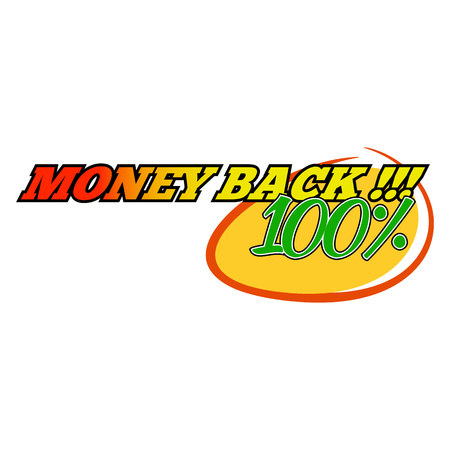 bomb price: Money back icon in comics style isolated on white background