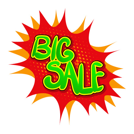 bomb price: Big sale icon in comics style isolated on white background