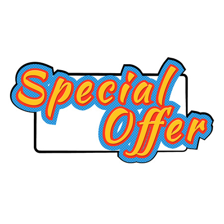 bomb price: Special offer icon in comics style isolated on white background Illustration