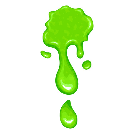 slime: New green slime icon isolated on a white background