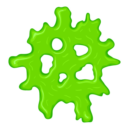 slime: New green slime sign isolated on a white background