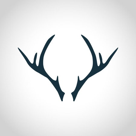Deer antler silhouette for web and mobile devices