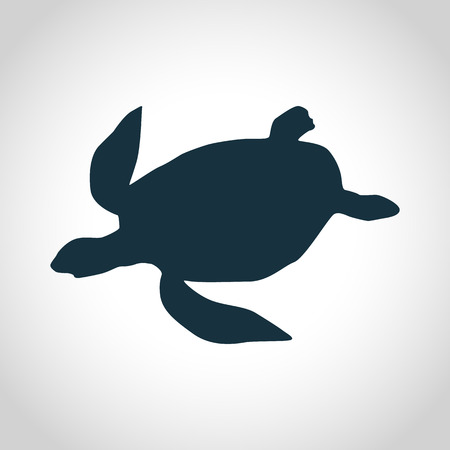 creep: Turtle black silhouette for web and mobile devices