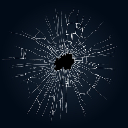 bullets: Broken glass black background for web and mobile devices