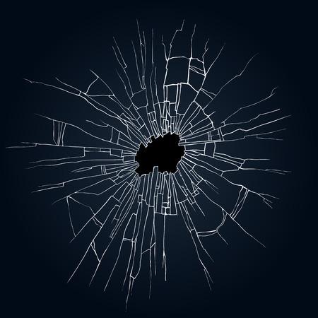 Zerbrochenes Glas schwarzem Hintergrund für Web und mobile Geräte Standard-Bild - 48327397