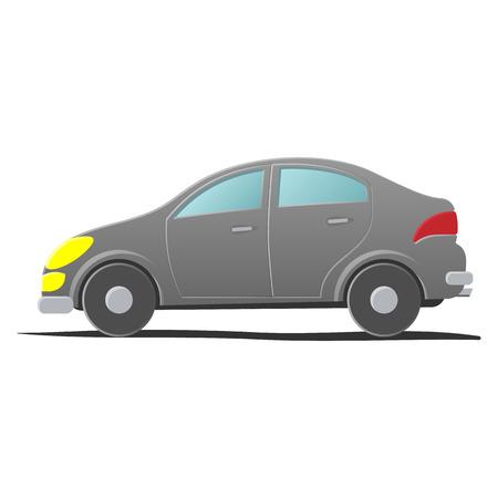 hatchback: Hatchback car. Cartoon illustration on a white background Illustration