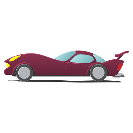 autosport: Cartoon car isolated on white background. Sportscar