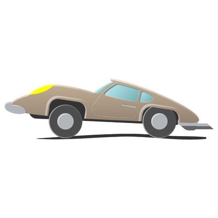 autosport: Retro cartoon car. Illustration isolated on white background Illustration