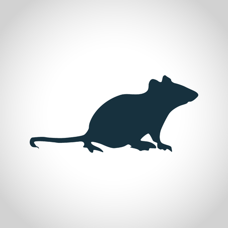 animal hair: Mouse black silhouette for web and mobile devices