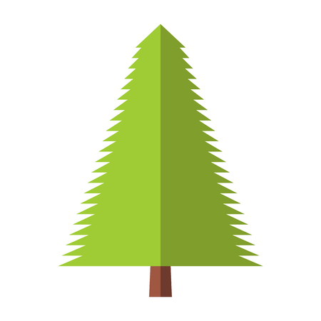 firtree: New fir-tree flat icon isolated on white background