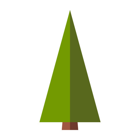 firtree: Fir-tree flat sign isolated on white background Illustration