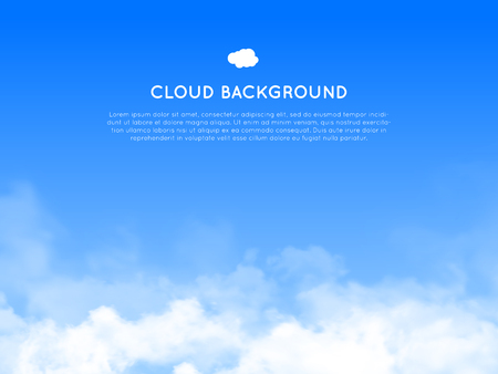 layout template: Cloud realistic background for web and mobile devices