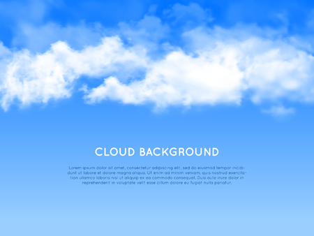 raincloud: New cloud realistic background for web and mobile devices Illustration