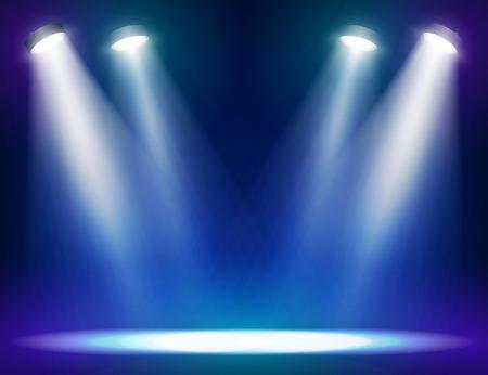 Éclairage scénique fond pour les dispositifs web et mobiles