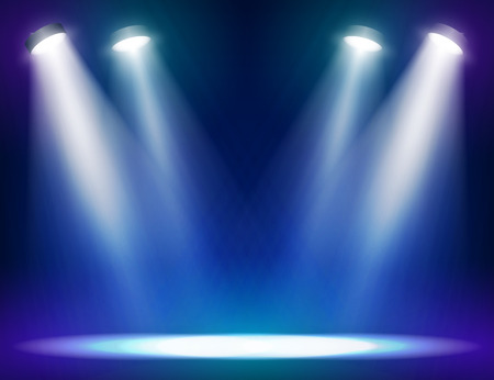 stage decoration abstract: Stage lights background for web and mobile devices