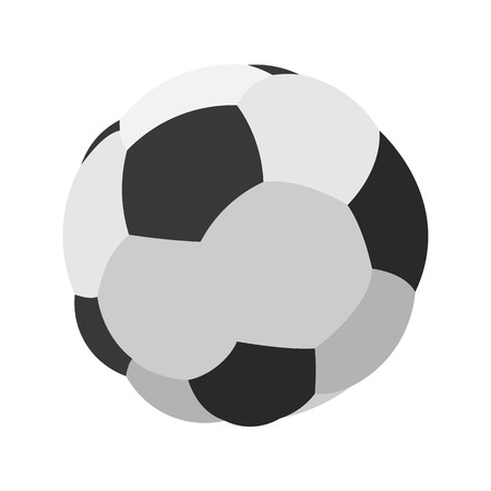 footie: Soccer or football cartoon image. Color icon on a white background