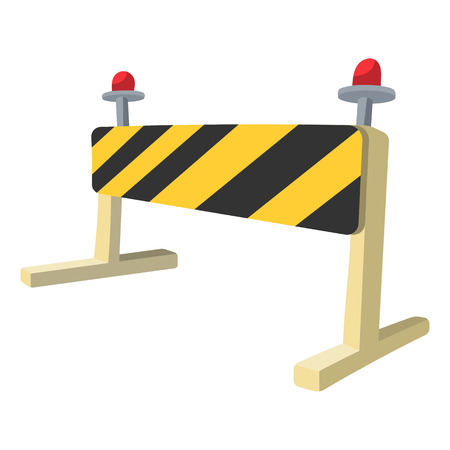 closed sign: Traffic barrier cartoon icon. Single illustration on a white background Illustration