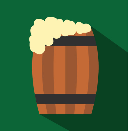keg: Keg of beer flat icon for web and mobile devices