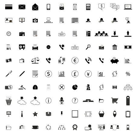 electric power: 100 company simple icons isolated on white background