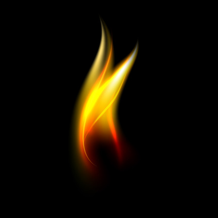 fire flame: New fire flame isolated on black background