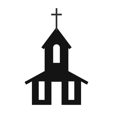 alter: Church simple icon isolated on white background Illustration