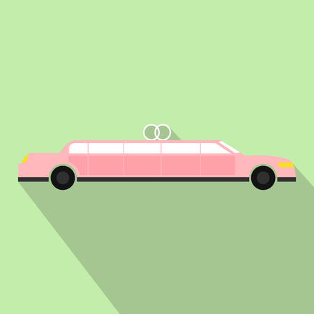limousine: Limousine flat icon for web and mobile devices