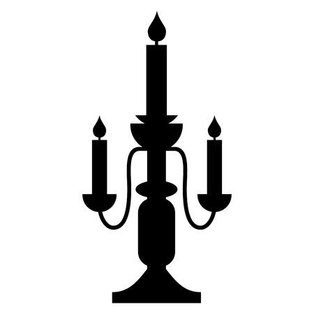 candlestick: Candlestick lamp simple icon isolated on white background Illustration