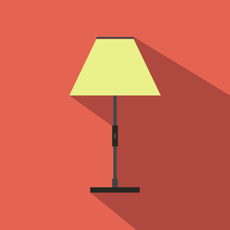 floor lamp: Floor lamp flat icon for web and mobile devices