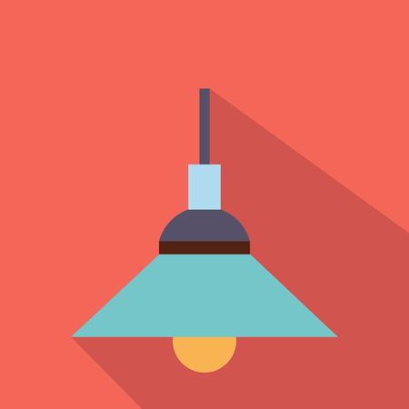 modern lamp: Lamp flat icon for web and mobile devices