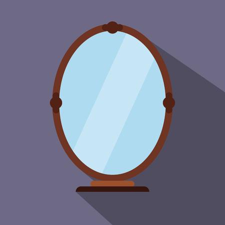 mirror?: Espejo icono plana para web y dispositivos móviles Vectores