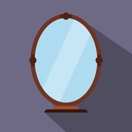 reflection: Mirror flat icon for web and mobile devices