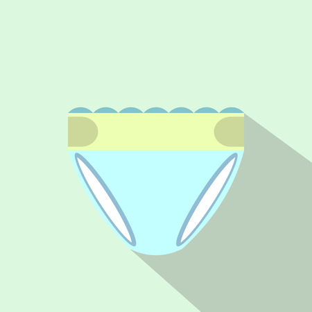 nappy: Diaper nappy flat icon for web and mobile devices Illustration