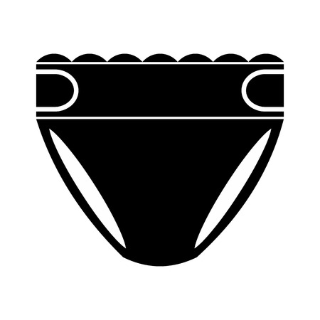incontinence: Diaper nappy simple icon for web and mobile devices Illustration